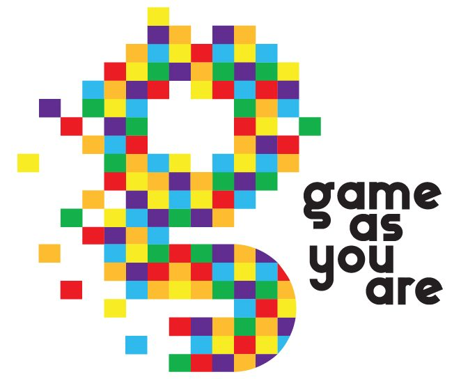 Colourful words that say game as you are