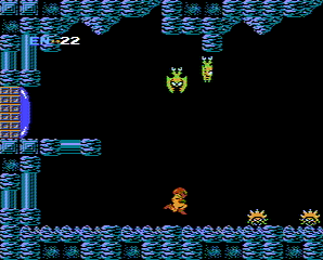 A humanoid frog character is jumping, near spiky-looking turtles. There are flying bats.
