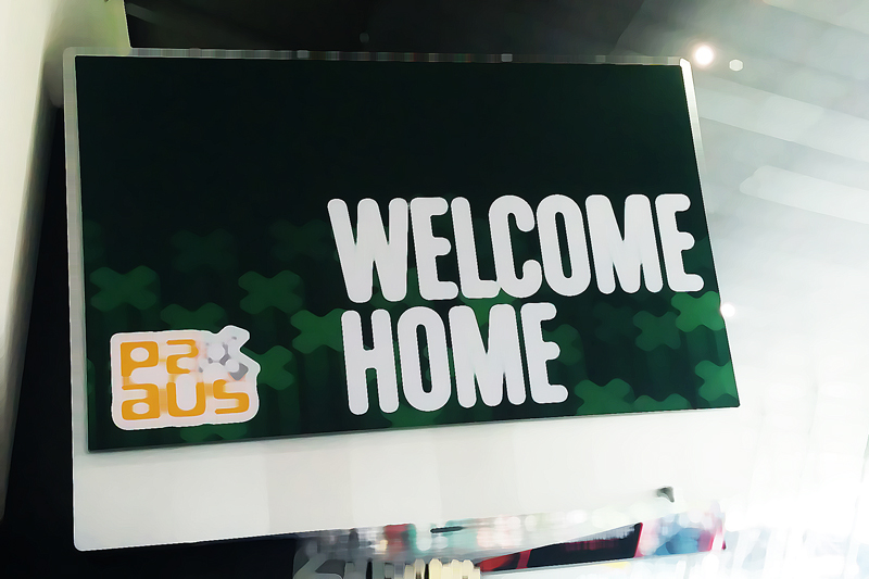 PAX Aus Welcome Home sign