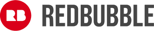 Redbubble logo links to Redbubble site.