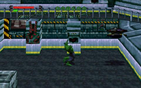 A green humanoid creature standing in a room full of control panels.