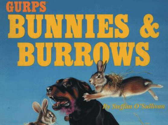Two rabbits and a dog fight beneath the game's title.