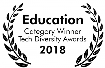 Education Category Winner Tech Diversity Awards 2018