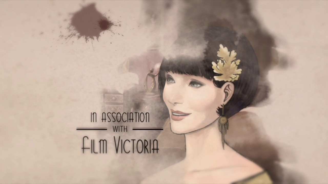 A femme looking person with a faded room in the background. Text reads 'In association with Film Victoria'