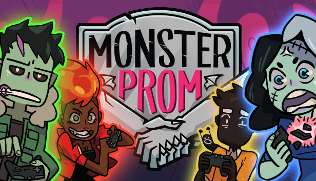 Monster Prom start screen.