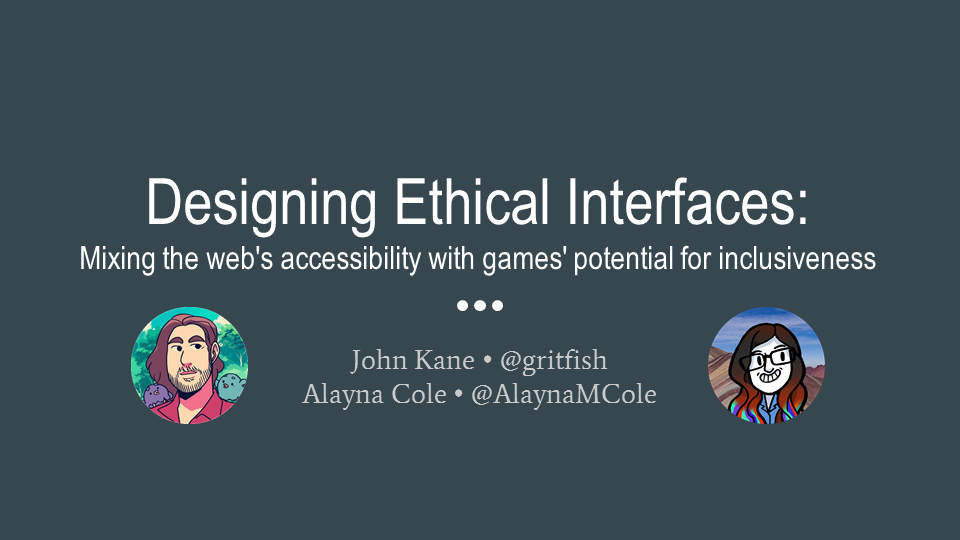 Designing Ethical Interfaces. Opening slide.